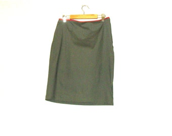 Pencil Skirt, Green Skirts, Womens Skirts, Skirts, Knee Length Skirt, Size Small, By Rebeccas Clothes