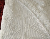 Vintage White Chenille Bed Spread