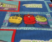 Chuggington Trains Fleece Tie Blanket     SALE! ! ! ! ! !