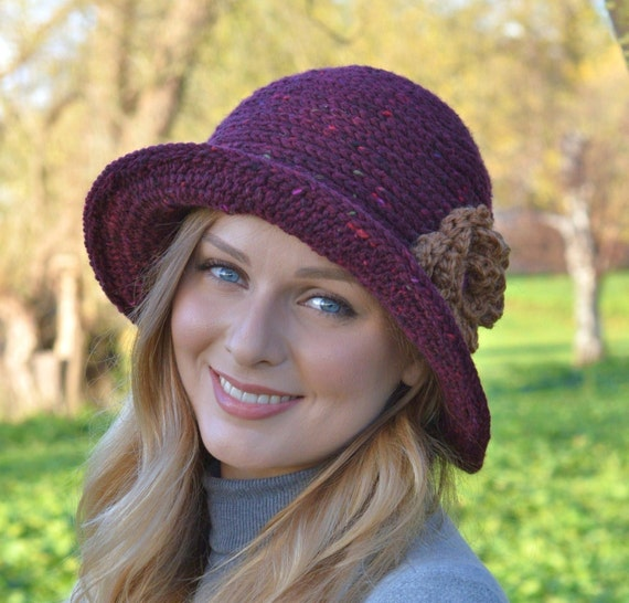 Crochet Hat Patterns Cloche : Crochet Pattern Downton Abbey Cloche Hat Easy by ...
