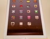 iPad mini stand / dock -  chestnut