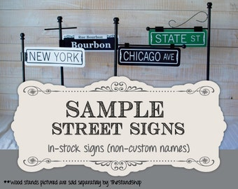 SAMPLE Street Sign Table Numbers