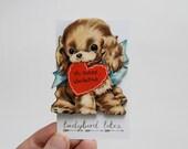 Puppy Valentine Laser Cut Wooden Brooch