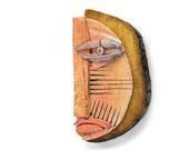Ceramic Mask, Mixed Media wall mask, Original mask, 3D wall art,  Abstract Ceramic by 99heads