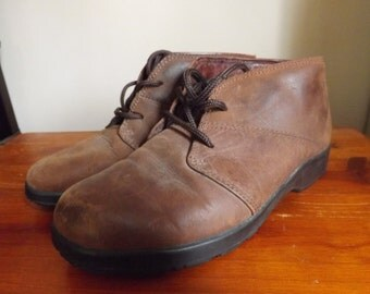 Vintage Reebok Ankle Boots. Vintage Ankle Booties. Leather Reebok Shoes. Vintage Boots. Leather Shoes.