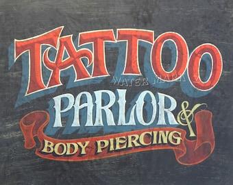 tattoo parlor print