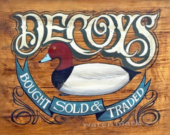 Duck Decoys  Print