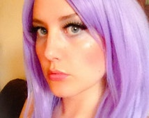 Violet // Beautiful Soft Lavender Purple Wig Synthetic Hair