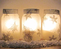 12 Winter Wedding Decorations Snowflake Design Centerpiece Candle Holder Vases