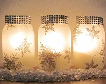12 Winter Wedding Decorations Snowflake Design Centerpiece Candle Holder Vases