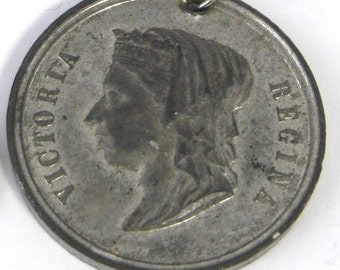 Royal Medal Queen Victoria Golden Jubilee 1887 50 Years Regent Silver Plate