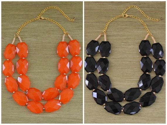 Oklahoma State Necklace - Oklahoma State University Gifts - Oregon State Necklace - Orange and Black Necklace - Oregon State University Gift