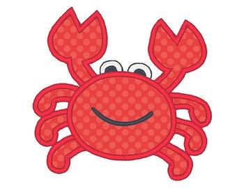 Crab Applique Embroidery Design - Instant Download