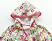 Cheerful Creatures Print Summer Bath Robe--Size 2T