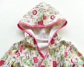 Cheerful Creatures Print Summer Bath Robe--Size 2T