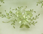 Dahlia Sequin Net Lace Sage 60 inch Fabric by the Yard,1 Yard