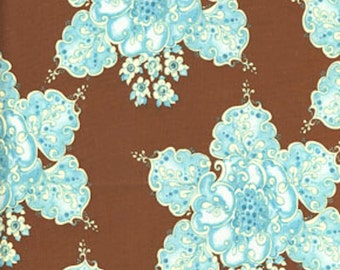 ℳ Tina Givens 100% cotton designer prints TG46 Fortiny in Pink Veranda 45 inches wide fabric by the yard, 1 yard