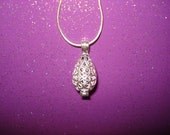 Pick A Pearl Cage Silver Plated Teardrop Heart Love XOXO Scroll Design Necklace