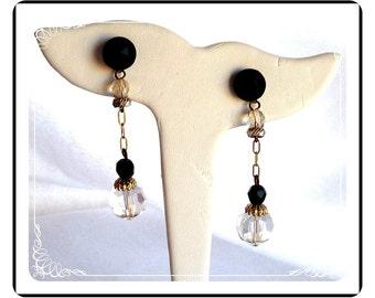 Crystal Drop Earrings  Dangling Pierced   -  E233a-041012000