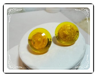 Duplaise Lucite Earrings - Vintage Retro Clips  E517a-071812000