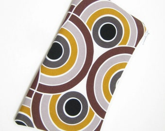Mod Print Pouch, Cosmetic Bag, Mobile Accessory Pouch, Geometric Print Gadget Pouch