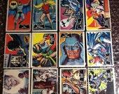 Vintage 1966 Topps Batman Black Bat Complete Set 55/55 Trading Cards Fair Condition