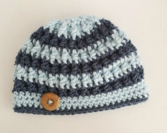Baby Boy Hat, Crochet Baby Boy Hat, Newborn Photo Prop