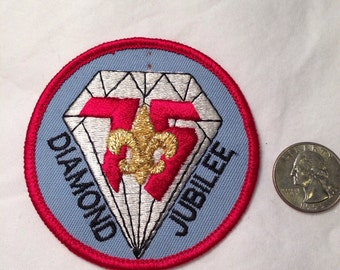 BSA 75th Diamond Jubilee patch