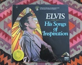 ELVIS - His Songs of Inspiration - Vinyl Lp - Gospel Album RCA Special Product - Record