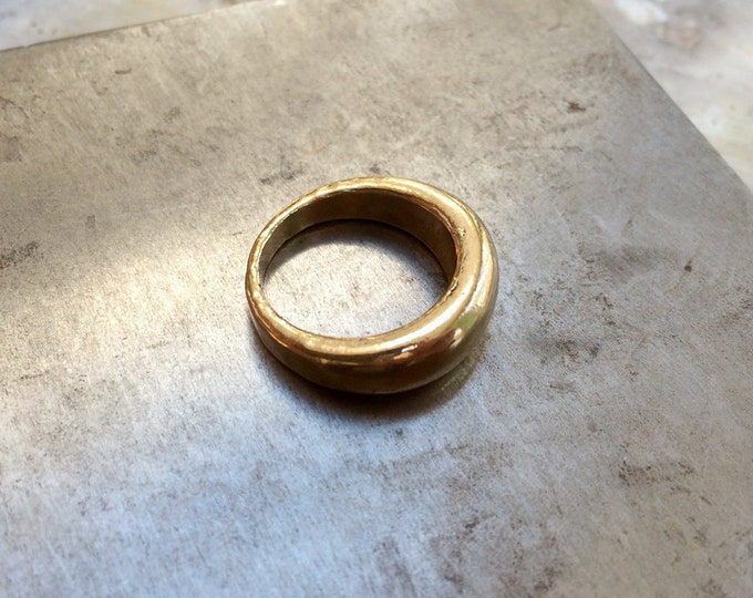 Dome Ring in Brass