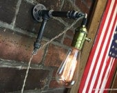 Industrial Style - Plug in Wall Sconce - Hanging Pendant - Edison Bulb - Wall Light