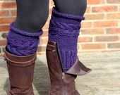 KNITTING PATTERN Cabled Corn Rows Boot Toppers Boot Cuffs Small Medium Large Sizes Ideal for Beginners Accessory