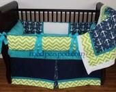 Gorgeous Authentic ModPeaPod Baby Crib Bedding Set custom Modern Plush Nautical Surfer Hawaiian