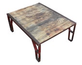 Red Industrial Pallet Table