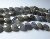 Labradorite Faceted Coin Beads 12mm