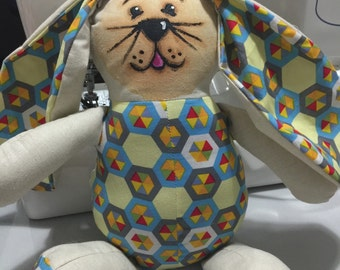 Geometric Hand painted Bunny.