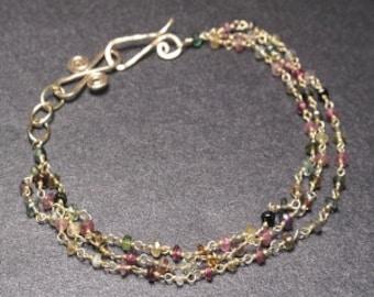 Beaded Mixed Tourmaline Bracelet 61