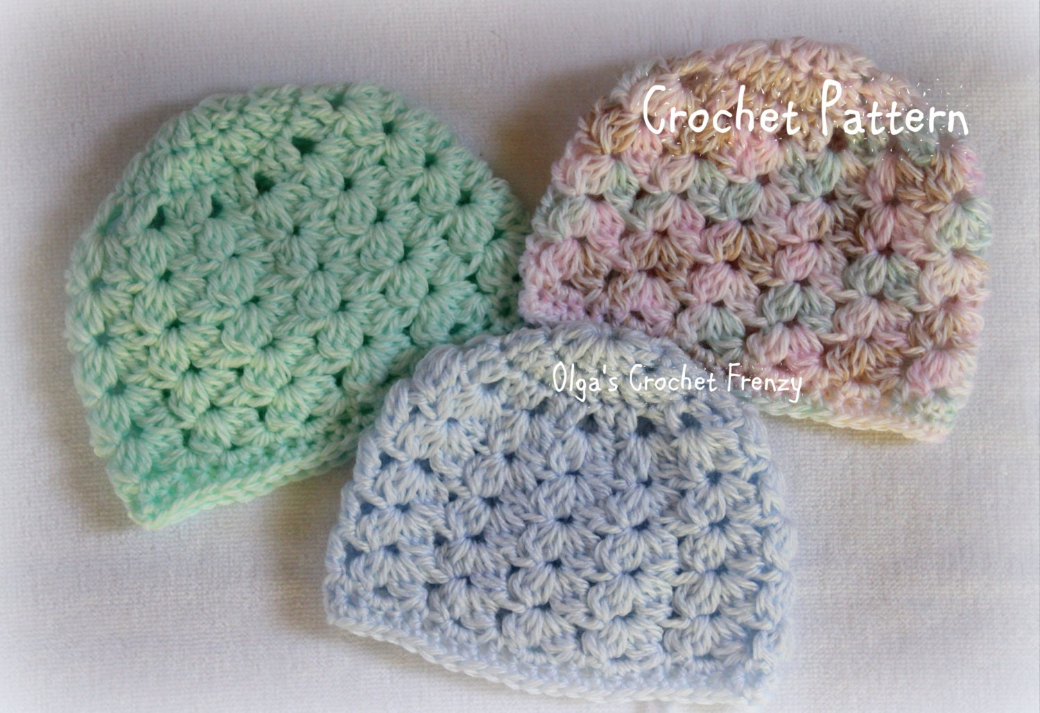 Crochet Hat Pattern For Premature Baby : Preemie Baby Hat Crochet Pattern Baby Girls and Baby Boys