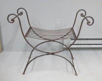 Vintage Iron Folding Bench