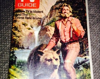 Vintage 1978 TV Guide Grizzly Adams