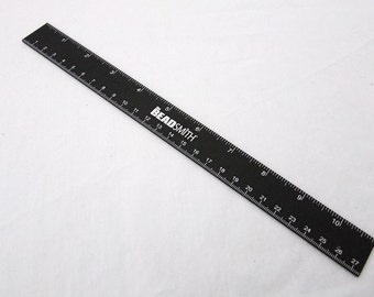 Black Annodized Aluminum 10.75 Inch Ruler   SALE  While Supplies Last