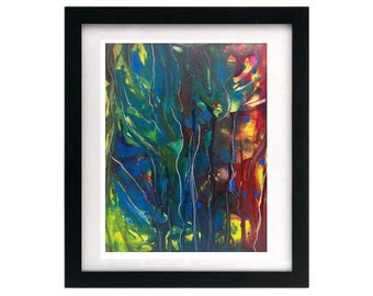 8.5 x 11 ~ Reverb — Limited Edition — Abstract Expressionism Print