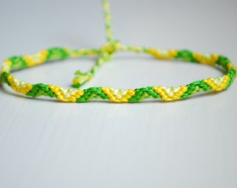 Clearance!! Limes and Lemons Half Totem Pole Friendship Bracelet