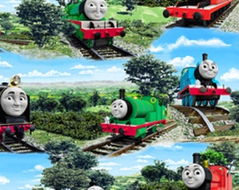 Fat Quarter Thomas The Tank Engine All Aboard Cotton Quilting Fabric 45626BF