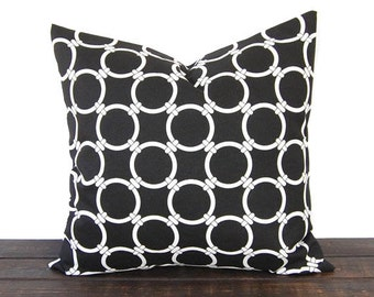 Throw pillow Toss Pillow Cushion Cover Decorative Pillows black and white modern geometric Linked