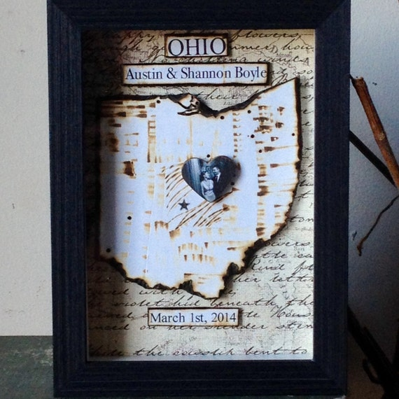 Anniversary gift first wedding heart by
