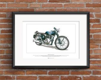 Velocette Thruxton Venom Motorbike - ART POSTER A2 size