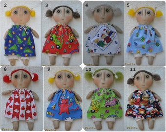 Fretta's Hand stitched all natural Lovable Dolls. Primitive doll. Folk Doll, Child Friendly Rag Doll.