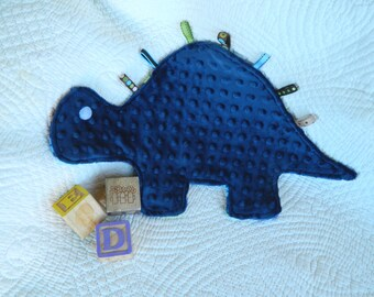 Cuddly Blue Print Dinosaur Snugglie