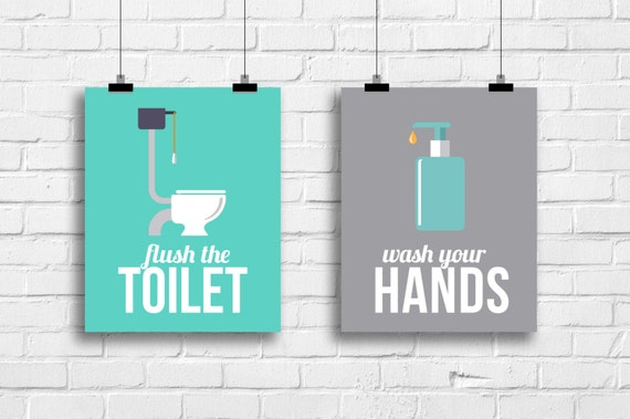 kids retro bathroom decor bathroom art prints bathroom posters wash